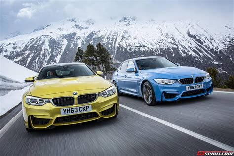 2014 bmw m4 coupe gallery 2014 bmw m3 saloon and bmw m4 coupe in the wild