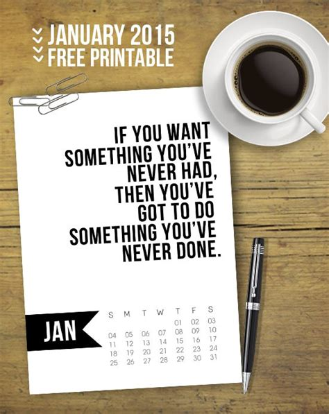 printable calendar quotes quotes for calendars january quotesgram