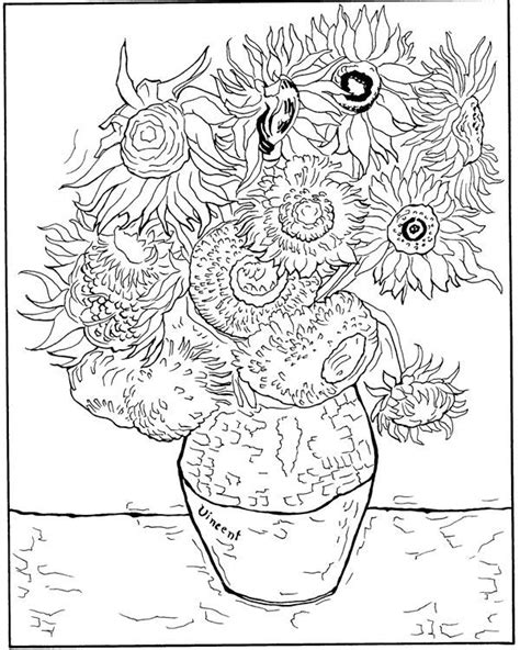 Coloring Page Vincent Gogh N Http Www
