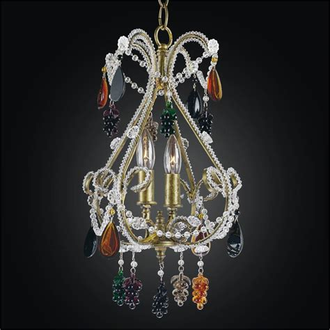 Chandelier With Crystals Beaded Mini Chandelier With Color Crystals Beaded 559