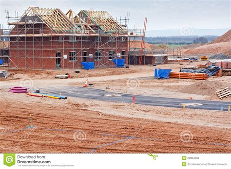 build on site homes new housing estate construction site stock photos image
