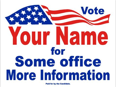 yard sign design template caign templates election sign ideas political sign