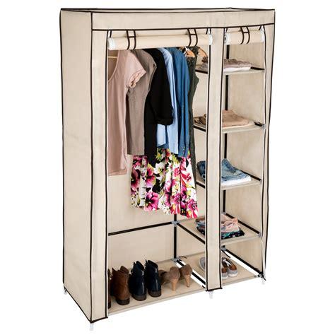 armadio in tela armadio in tessuto doppio in tela abiti guardaroba vestiti