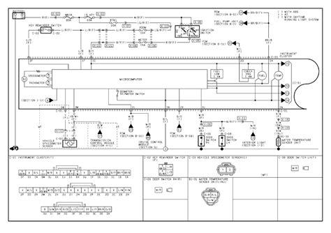 mazda 3 cluster wiring diagram k
