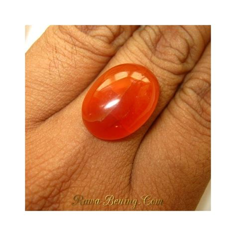Cincin Ruby 6 50 Ct promo batu akik carnelian yellowish orange oval