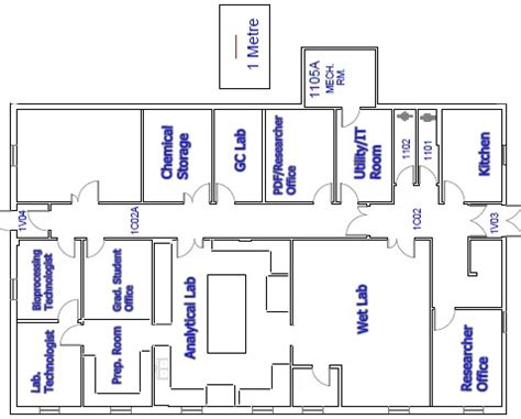 lab floor plan fisheries and marine institute of memorial university of