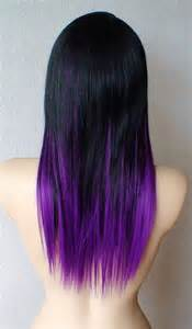 hair styles that are and layerd with purple die in it black and purple hairstyles