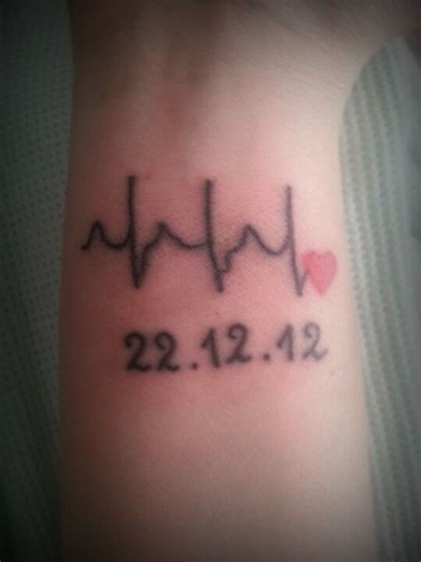 tattoos with dates my for my husband his heartbeat our wedding date