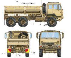 trumpeter 1/35 m1083 fmtv 6x6 cargo truck | m1083 | pinterest