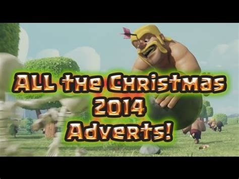 all the clash glitches clash of clans christmas update all the clash commercials clash of clans christmas