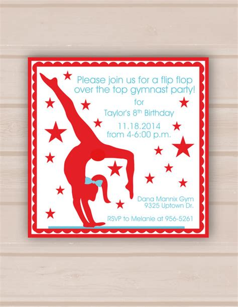7 Best Images Of Gymnastic Birthday Invitations Printable Free Printable Gymnastic Birthday Gymnastics Birthday Invitation Templates