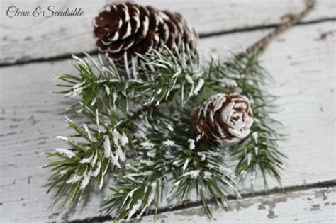 snowy blossoms holiday pick set diy snow covered branches and pine cones clean and scentsible