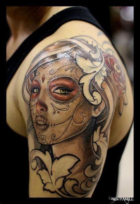 female sugar skull tattoos 40 mexican skull tattoos skullspiration
