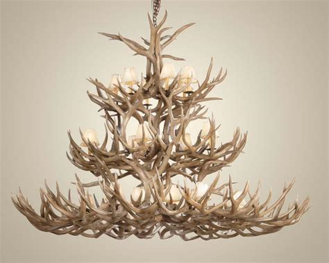 How To Make A Deer Horn Chandelier Make Deer Antler Chandelier Light Fixtures Design Ideas