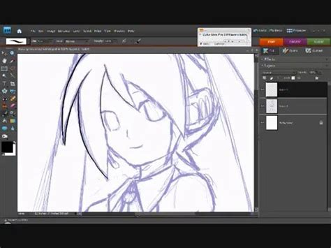 how to make doodle using adobe photoshop drawing miku hatsune in photoshop elements 7 0