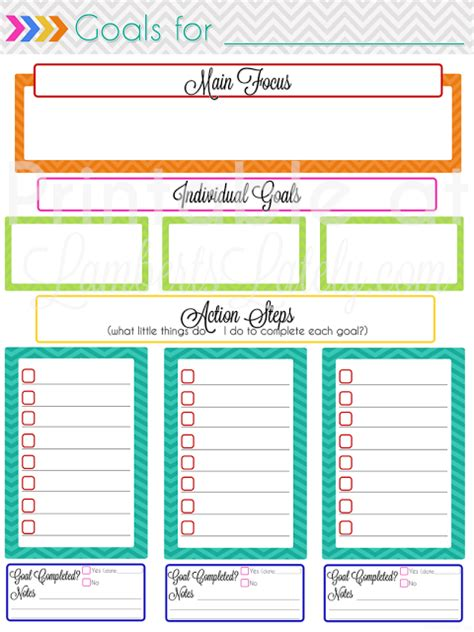 ultimate planning notebook add monthly goal setting
