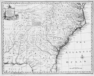 map of colony in 1732 the usgenweb archives digital map library maps