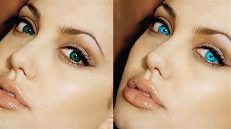 how to change your eye color to hazel change eye color in photoshop masking tutorial