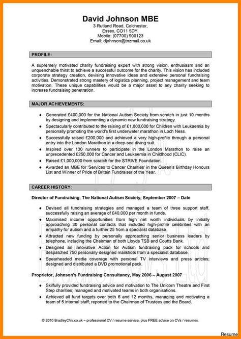 Resume Template With Profile Picture personal profile exles resume professional of for cv