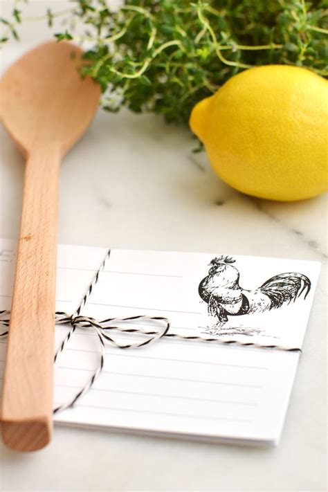 rooster recipe card template best 25 printable recipe cards ideas on