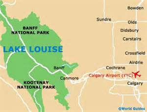 map of lake louise canada lake louise travel guide and tourist information lake