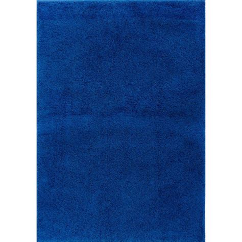 Well Woven Madison Shag Plain Light Blue 6 Ft 7 In X 9 Blue Rug