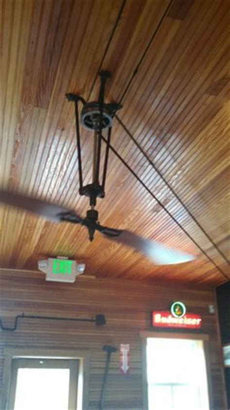 belt powered ceiling fan belt driven ceiling fan picture of rock cafe