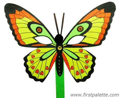 Papercraft Butterfly - masquerade mask craft crafts firstpalette
