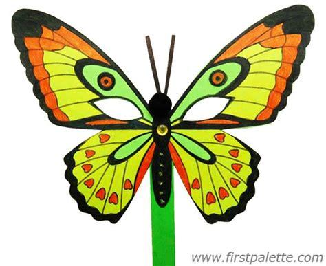 Papercraft Butterfly - masquerade mask craft crafts firstpalette