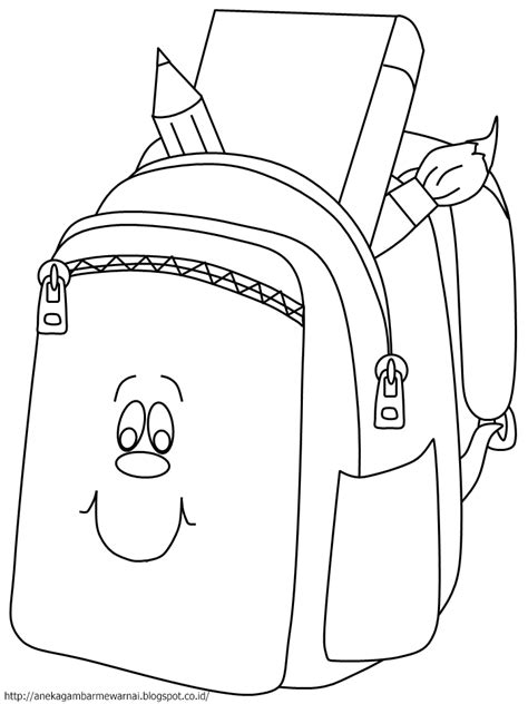 Gambar Dan Tas Belleza gambar mewarnai tas sekolah untuk anak paud dan tk