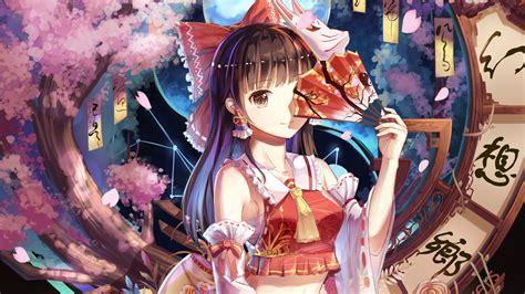 reimu hakurei anime girl wallpapers hd wallpapers id