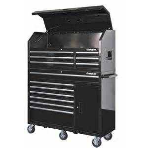 husky 52 in 13 drawer and 1 door tool chest and cabinet set black hotc5213b1os the home depot
