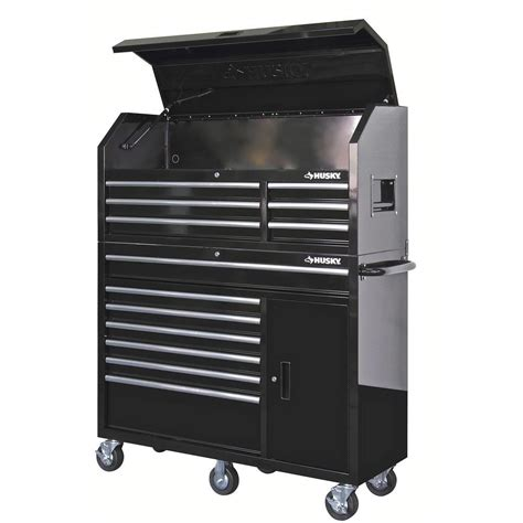husky 52 in 13 drawer and 1 door tool chest and cabinet