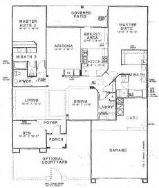 Two Master Bedroom Floor Plans by Sun City Vistoso Floor Plan Hampton Model Floor Plan