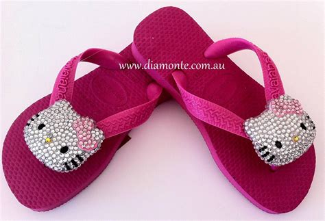 Sandal Wedges Spon Hello Dn19 Pink 1 top havaianas thongs sandal ft pink bow hello swarovski ebay