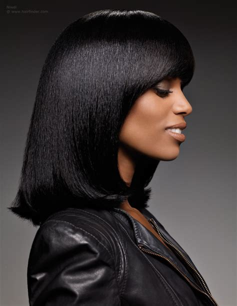 haircuts for black hair long bob for smooth and straightened black hair