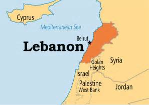 World Map Lebanon lebanon operation world