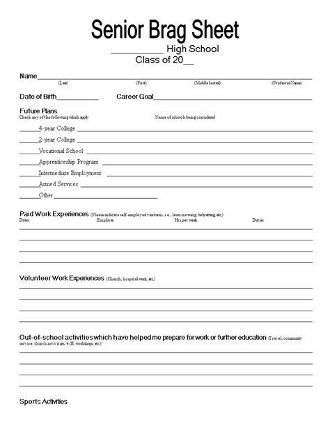 Senior Brag Common Core Sheet Senior Brag Common Core Sheet Confessions Of A Gsp Director Brag Letter Template