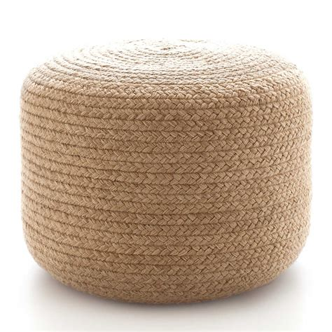 outdoor poufs and ottomans braided indoor outdoor pouf fresh
