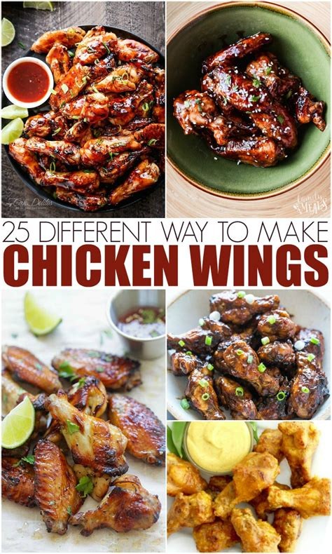 25 different ways to make chicken wings mamanista