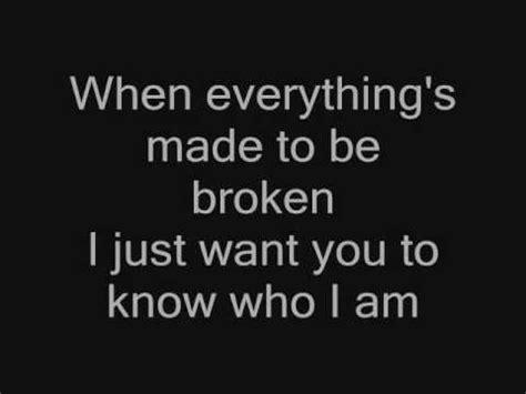 i just want you to know who i am [iris] + lyrics youtube