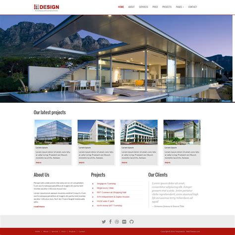 bootstrap themes architecture a design is a real estate builders theme especially for
