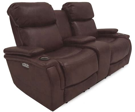 Power Reclining Loveseats With Console by Mirage Power Reclining Console Loveseat Frontroom