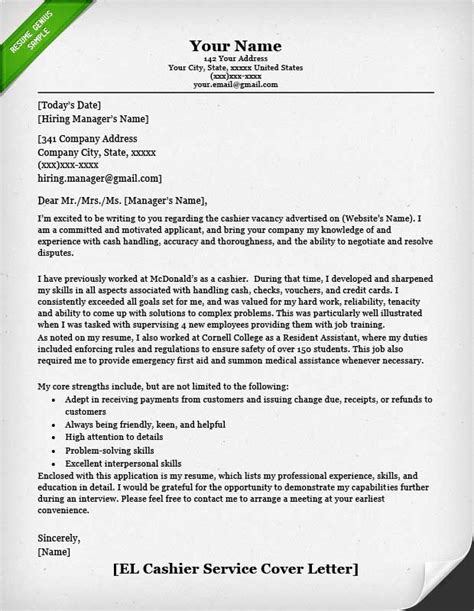 sles of cashier s free resume retail cover letter sles resume genius