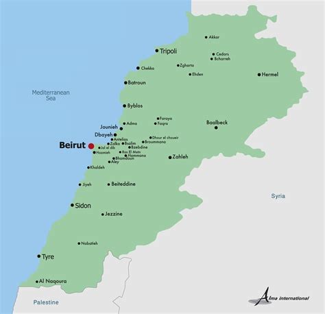 beirut on world map related keywords suggestions for lebanon map