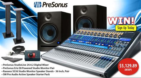 American Musical Supply Giveaway - tremendous giveaway in august 2013 from american musical supply presonus