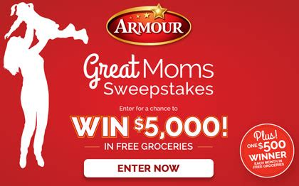 armour great moms sweepstakes sun sweeps - Armour Great Moms Sweepstakes