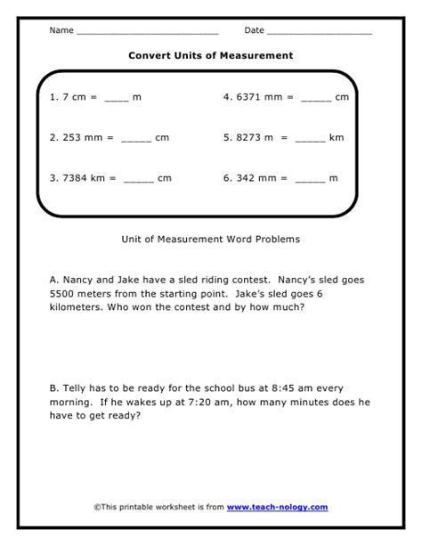 Conversion Problems Worksheet by Worksheets Metric Conversion Word Problems Worksheet Opossumsoft Worksheets And Printables