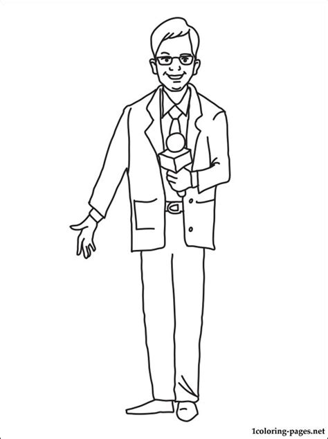 journalist coloring page coloring pages
