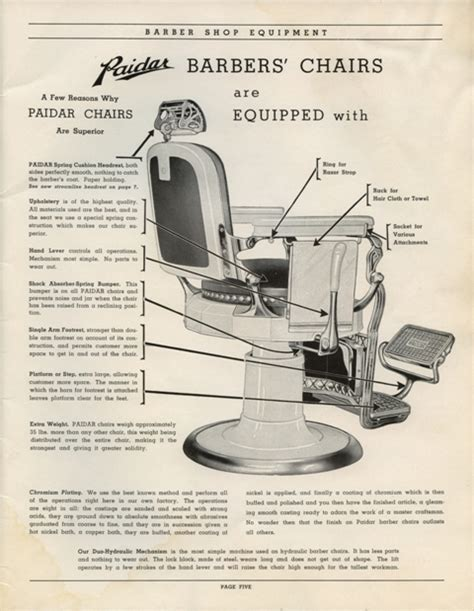 barber chair parts suppliers paidar barber shop equipment catalog no 49 on cd barber